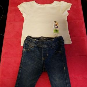 Infant Jean's and white shirt